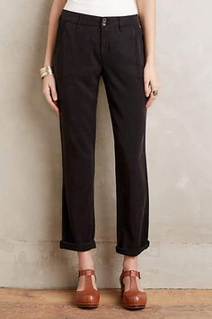 Pilcro Hyphen Roll-Up Trousers - anthropologie.com