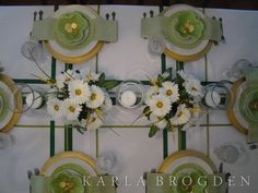 Green and White St Patrick's Tablescapes