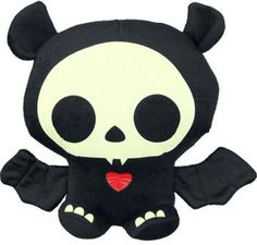Or maybe this dark and adorable plush, to remind them of when Skeleanimals were very much a thing.