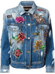 Marco Bologna embroidered denim jacket