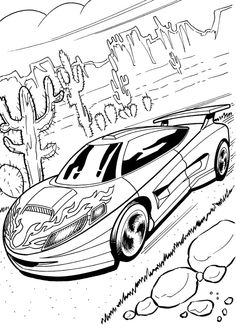 The Fastest Cars From Hot Wheels Coloring Pages