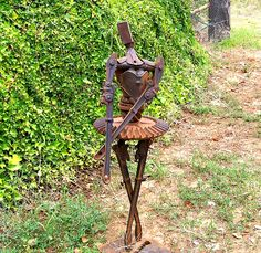 Welded ballerina sculpture.  iforgeiron.com