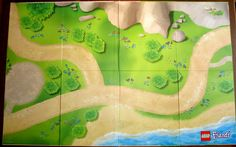 Lego friends playmat - diy by painting a similar landscape on a piece of canvas dropcloth