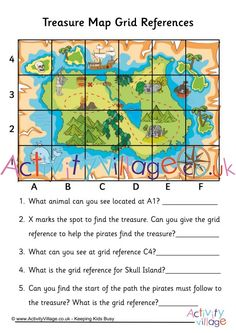 treasure map grid kids worksheets map activities teaching maps treasure maps. Black Bedroom Furniture Sets. Home Design Ideas
