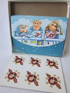 Vintage Muppets in Space Hallmark Postalettes  Stationary set on Etsy