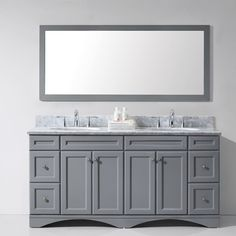 "Found it at Wayfair - Talisa 72"" Double Bathroom Vanity Set with Mirror"