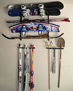 Install multipurpose storage racks in your home for a dynamic storage option. Handle multiple types of gear at once with wall storage racks from CozyWinters! Wall Storage, Storage Rack, Sports Equipment Storage, Winter Gear, Winter Sports, Store Design, Snowboard, Storage Solutions, Outdoor Gear