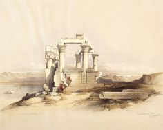 David Roberts - The Little Temple Of Wadi Kardassy in 1839