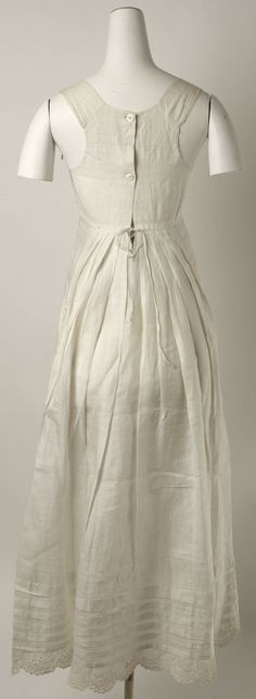 Petticoat: ca. early 19th century, American, linen.