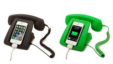 A charging dock that turns your iPhone into a phone-phone.