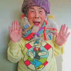 Chinami Morin is a grandmother. She is energetic, very active, full of life and is someone brave enough to be a model. Rare Birds, Dragon, Sewing Lessons, Foto Instagram, Advanced Style, Weaving Techniques, Bored Panda, Handmade Clothes, Hand Weaving