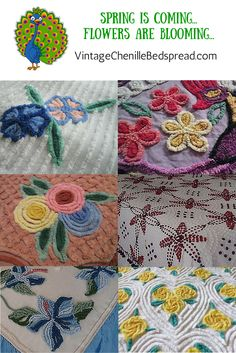 Learn more about vintage chenille and see the latest fabulous listings at http://vintagechenillebedspread.com/