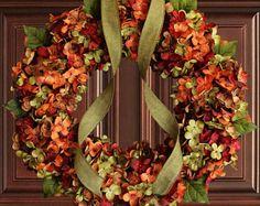Fall Blended Hydrangea Wreath | Fall Decor | Autumn Wreaths | Front Door Wreaths | Outdoor Wreaths | Hydrangea Wreaths