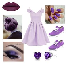 """""""Purple part2"""" by rainbowcutie1 on Polyvore featuring beauty, Vans, Chi Chi and Oravo"""