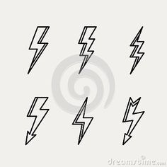 Lightning icon minimal linear contour outline