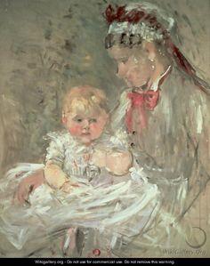 Julie Manet and her Nurse - Berthe Morisot