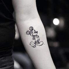 Mickey Mouse Draft Disney Character Temporary Tattoo Sticker (Set of - Disney-Tattoos Mickey Tattoo, Mickey Mouse Tattoos, Cartoon Character Tattoos, Disney Cartoon Characters, Cartoon Tattoos, Fake Tattoos, Temporary Tattoos, Small Tattoos, Cool Tattoos