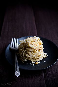 Italian Food ~ #food #Italian #italianfood #ricette #recipes #pasta ~ Spaghetti with Parmesan, Pine Nuts and Brown Butter Sauce