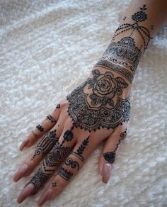 Hand henna design, - Hand Nail Design FoR Women Henna Tattoo Hand, Henna Tattoos, Henna Inspired Tattoos, Henna Ink, Henna On Hand, Mandala Tattoo, Henna Hand Designs, Henna Tattoo Designs, Tattoo Trend