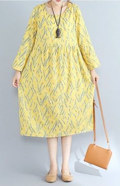 New women loose fit over size dress retro flower maxi pocket tunic robe fashion #Unbranded #Maxi #Casual