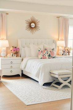 Drew Barrymore Walmart Flower Home Collection. master bedroom makeover white tufted bed white and &; Drew Barrymore Walmart Flower Home Collection. master bedroom makeover white tufted bed white and &; My Pano Drew […] makeover grey White Tufted Bed, White Bedding, Bedding Sets, Gold Bedding, Cotton Bedding, Home Decor Bedroom, Bedroom Furniture, Home Furniture, Bedroom Ideas