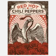 Red Hot Chili Peppers 18x24, $38, now featured on Fab.
