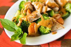 Tofu and Vegetables in Low-Fat Thai Peanut Sauce