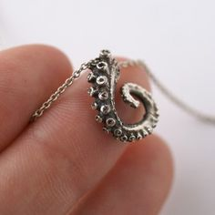 silver tentacle necklace $36.00
