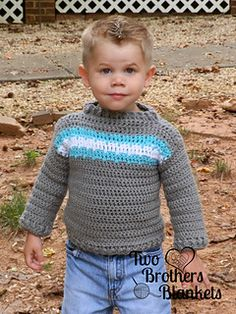 Isaac Pullover Sweater (Infant and Toddler Sizes) pattern by Two Brothers Blankets