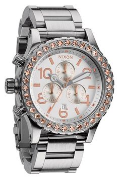 Nixon 'The 42-20 Chrono' Crystal Bracelet Watch, 42mm available at #Nordstrom