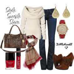 tan & red plaid for fall