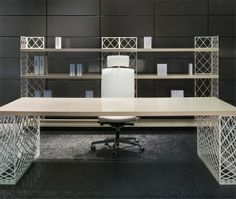 Discover All The Information About Product Executive Desk Wooden Metal Contemporary BROOKLYN