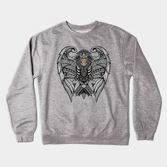 mayan aztec pattern eagle ravenclaw shield Crewneck Sweatshirt #Crewneck #Sweatshirt #clothing  #pattern #vintage #blackwhite #ravenclaw #hawk #eagle #animal #bird #tattoo #mayan #indian #americannative