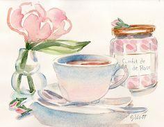 Flower School  By Paris Breakfast ( Carol Gillott )