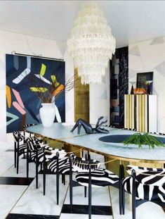 Elegance and Style on Home Interiors: Dining Rooms by Kelly Wearstler