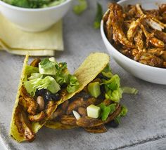 Remake a street-food favourite, pulled pork, with juicy chicken thighs to cut the calories for a healthy taco filling