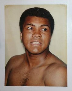 Mohammed Ali by Andy Warhol: unseen polaroids from 1970 to 1987