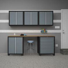 98 in H x 145 in W x 24 in D Steel Garage Cabinet Set in Black 8