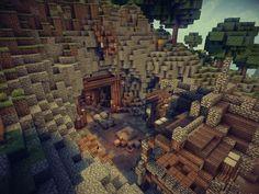 Medieval MineCraft Coal Mine by skShaD on DeviantArt Minecraft Portal, Minecraft Kingdom, Mine Minecraft, Minecraft Castle, Cute Minecraft Houses, Minecraft Houses Blueprints, Minecraft Plans, Minecraft Funny, Minecraft Buildings
