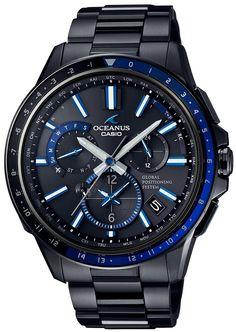 CASIO Men's Watch OCEANUS GPS hybrid Solar radio OCW-G1100B-1AJF