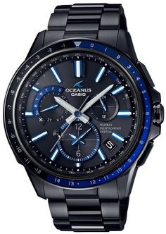 CASIO Men's Watch OCEANUS GPS hybrid Solar radio OCW-G1100B-1AJF