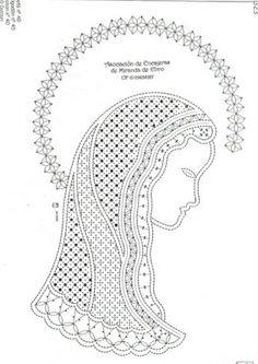 Los dos, foto y picado - Choni Encajeras - Picasa Albums Web Bobbin Lace Patterns, Crochet Patterns, Madonna, Paper Cutting Patterns, Tiny Teddies, Romanian Lace, Bobbin Lacemaking, Lace Heart, Parchment Craft