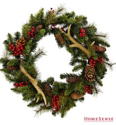 HomeSense has a fine selection of Bed and Bath & Home Décor products at great prices. Find a HomeSense store near you. Country Christmas, All Things Christmas, Christmas Holidays, Christmas Wreaths, Christmas Decorations, Christmas Ideas, Antler Wreath, Seasonal Decor, Holiday Decor