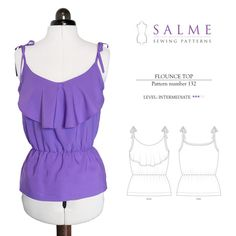 Flounce Top Sewing Pattern