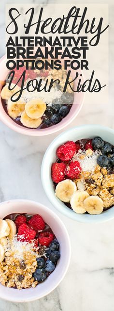 8 Healthy Alternative Breakfast Options for Your Kids