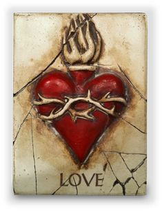 Sid Dickens Memory Block  Love and Sacred Heart (Red)    1996 Collection - PQ39