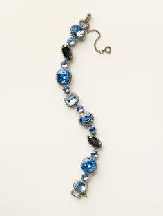 Cushion Cut Crystal Bracelet in Ice Blue - Sorrelli