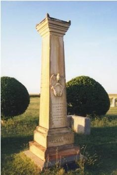 Cenotaph at the Fort Wallace Cemetary on the Western Vistas Historic Byway.