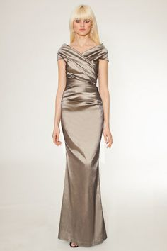Golden goddess #Terijon {Stretch taffeta gold off the shoulder gown perfect for mother of the bride}