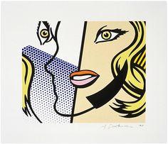 Roy Lichtenstein, Lot 7, Untitled (Head), 1995 on Paddle8